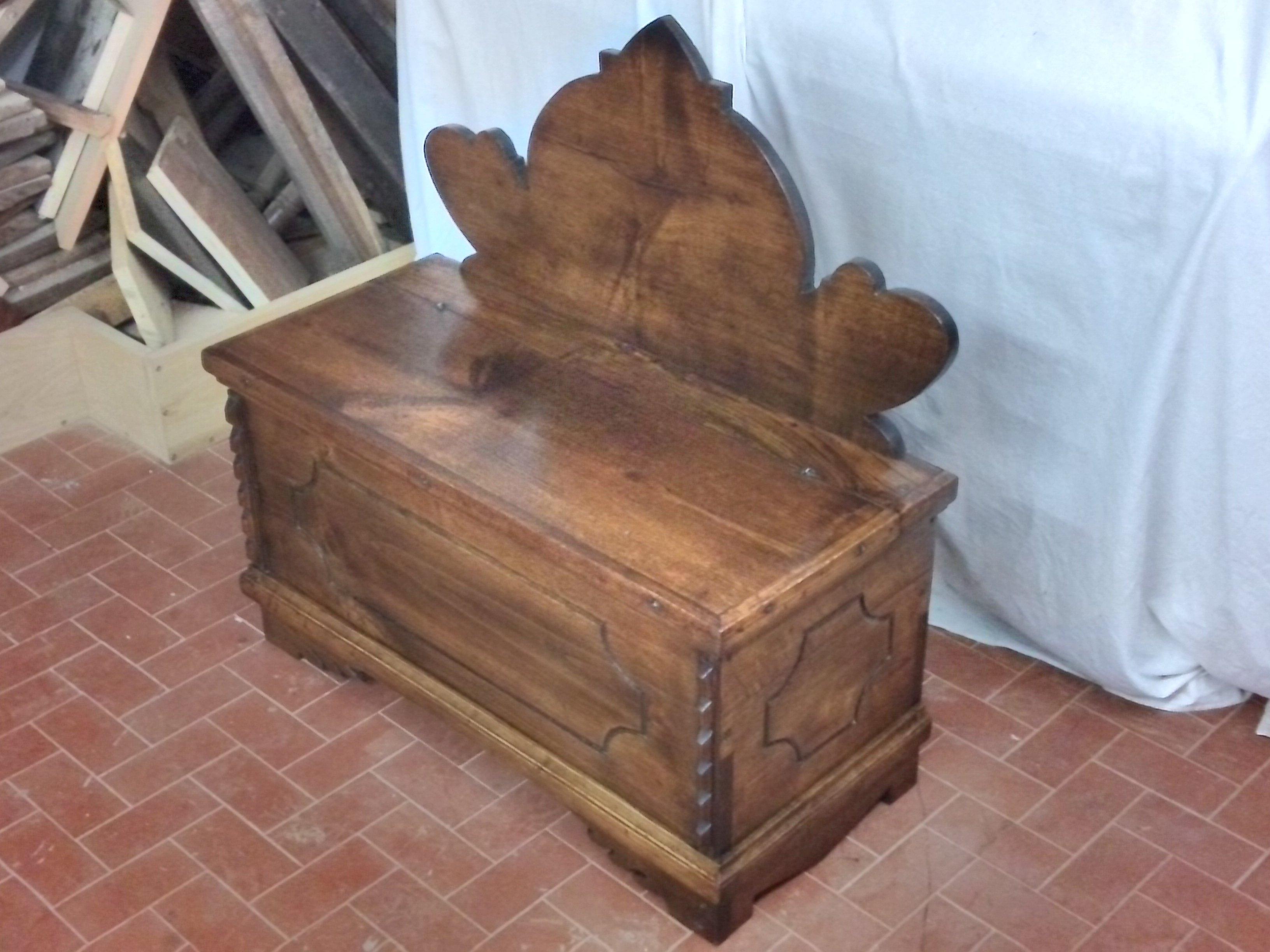 Chest hanger chestnut wood restoration
