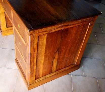 Schreibtisch restaurierten alten nussbaum sieben schubladen mit klappbarer schreibtisch