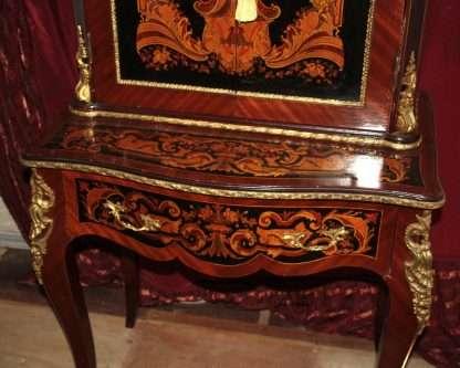 Sekretär Tisch mit Louis XIV-Stil Reproduktion, frühe 900 Reproduktion, gute Qualität in sehr gutem Zustand