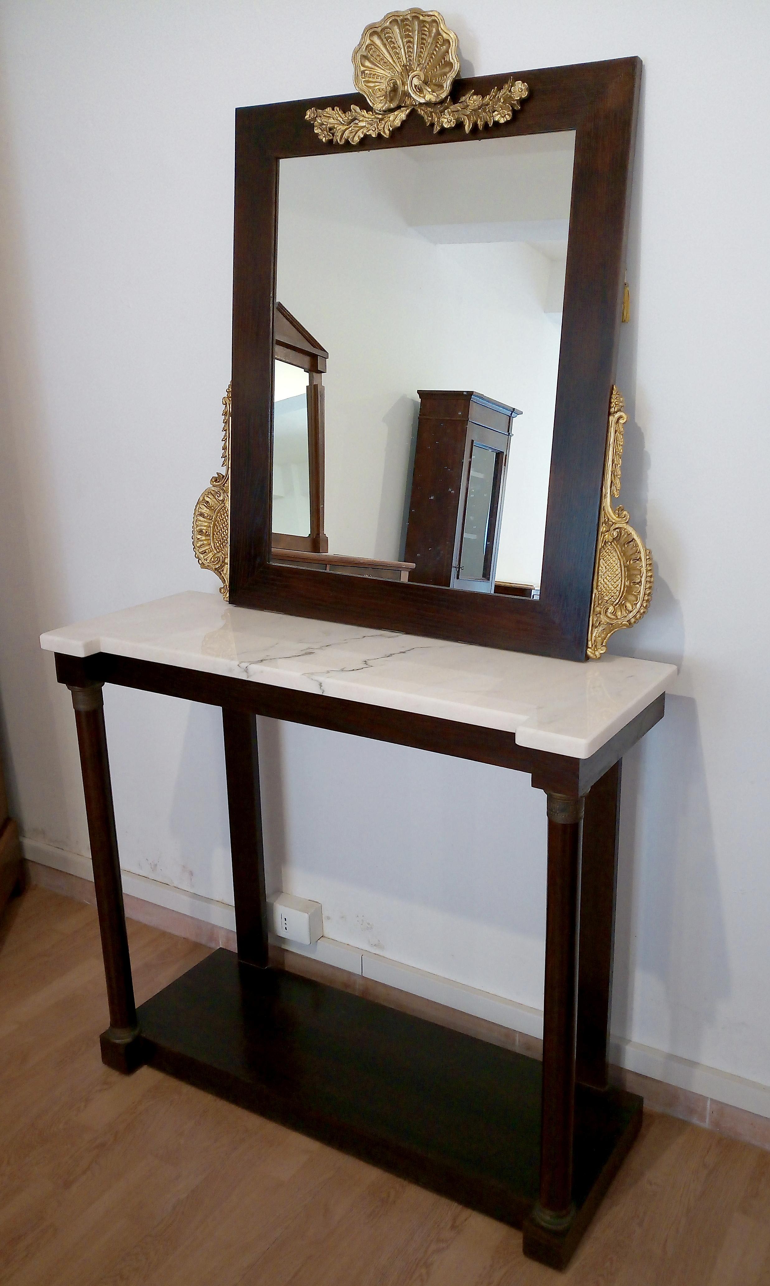 Konsole mit Spiegel Vintage italienischen klassischen Stil